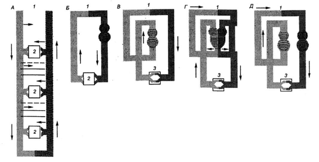 Рис. 9.1 Эволюция системы